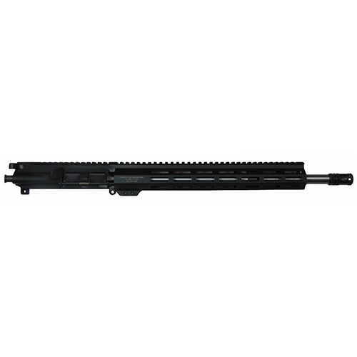 Upper is 17.9 inches built on a MIL spec per with MIL spec bolt and carrier. comes with a standard A2 suppressor installed.