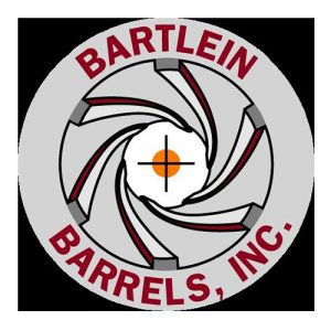 Bartlein Barrels Inc logo in red letters with grand design