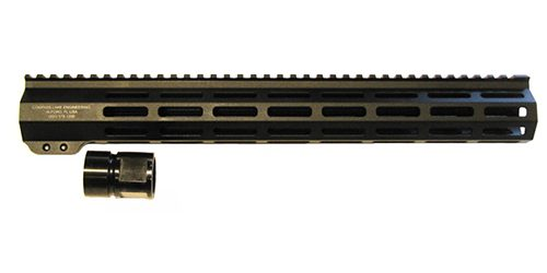 M-Lok Handguards are made from 6061 Aluminum and have a 1018 Steel Barrel nut. The handguards have a full length picatinny rail along the top and M-Lok slots at the standart 3, 6 and 9 o'clock positions as well as on the 45's.