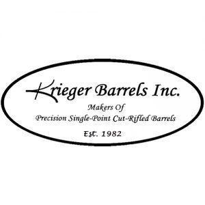 Logo of Krieger Bartrels Inc, Makers of precision single point curt rifled battles. Set 1982