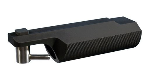 This hand rest is made with anodized aluminum and Steel hardware. Approved for NRA competition.