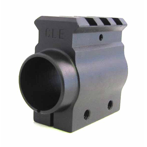 Our railed gas block clamps on for use with any .750 diameter barrel. The rail is not the same plane as the picatinny. It was Designed for use with a removable A2 style front sight and will adjust the hight of the front sight to that of a F-height front sight.