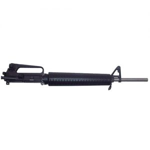 Service Rifle Upper in .223 caliber You choose Chrome Moly or Stainless Steel, the chamber, and the rear sight base in either 1/2 or 1/4 MOA. Standard install you will find our CLE float tube, hood, interchangeable aperture of your choice, windage adjustable front sight with post