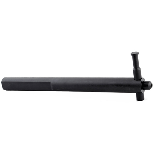This fixture allows you to securely hold an upper receiver in a vise while tightening the barrel nut. The torque is applied to a solid section of the upper receiver.